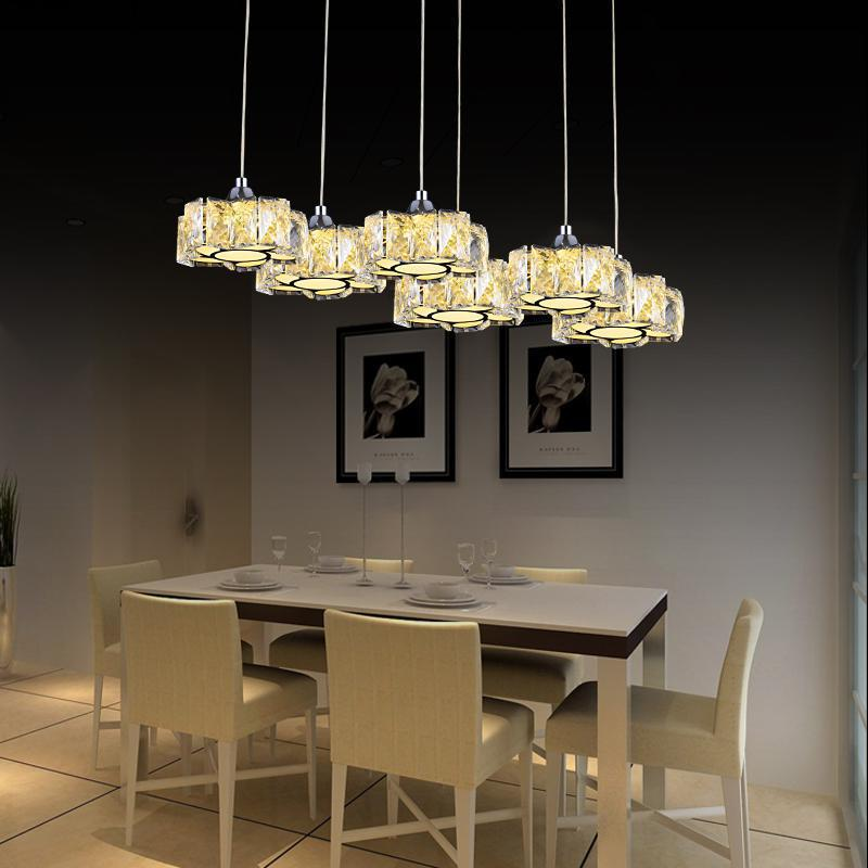 цена на Led Crystal Chandelier Light For Aisle Porch Hallway Stairs Crystal Ring Dining Light Wth Led Light Chandelier Lighting