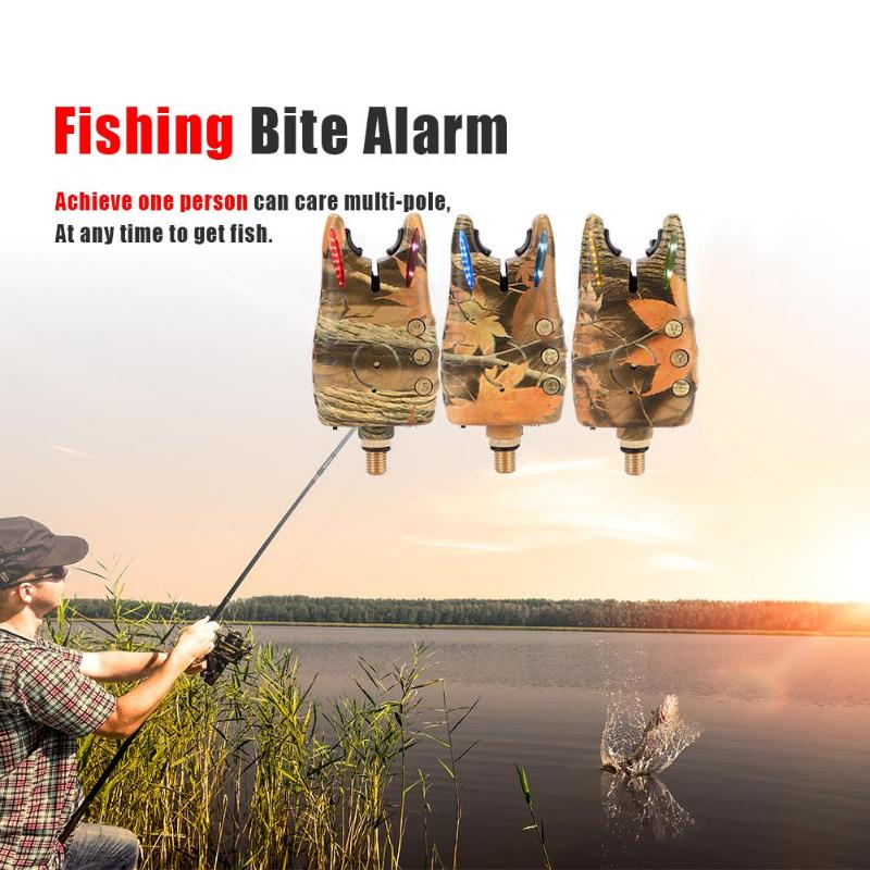 JY-57 Wireless Electronic Fishing Bite Alarm Kit camouflage With 8 LED Indicator Adjustable sensitivity volume Without BatteryJY-57 Wireless Electronic Fishing Bite Alarm Kit camouflage With 8 LED Indicator Adjustable sensitivity volume Without Battery
