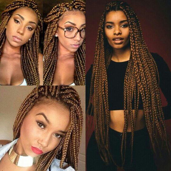 "18"" medium box braids hair crochet"