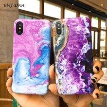 Fashion colorful marble phone case For iphone X 10 7 Plus 8 8plus Shiny Soft silicon for 6 6s 6plus back cover
