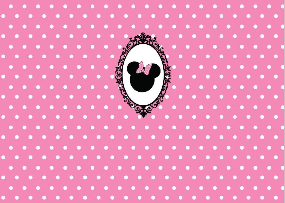 Prix pour 5x7FT Blanc Rose Polka Dots Motif Souris Cadre Miroir Personnalisé Photo Studio Backdrop Vinyle 220 cm x 150 cm
