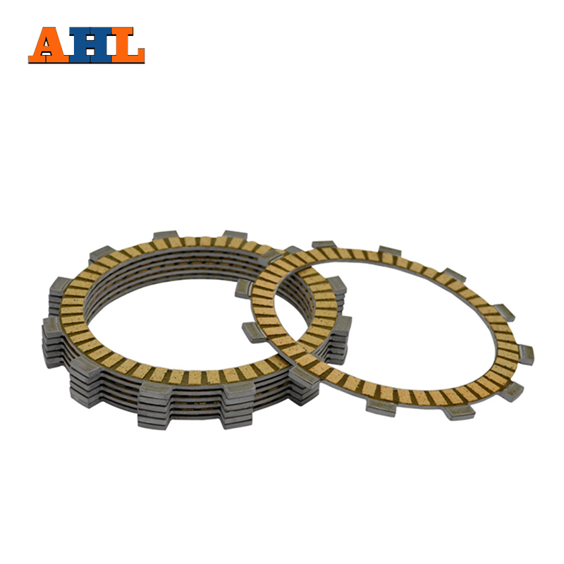 AHL Motorcycle Clutch Friction Plates Set For KAWASAKI KDX200 KDX125 KLX250 KL250 Clutch Lining CP 00027