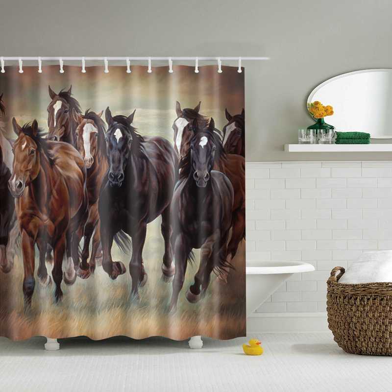 New Waterproof Horse Shower Curtain Eco Friendly Colorful Zebra Washable  Bath Curtains For Home Decor Drop Shipping In Shower Curtains From Home U0026  Garden On ...