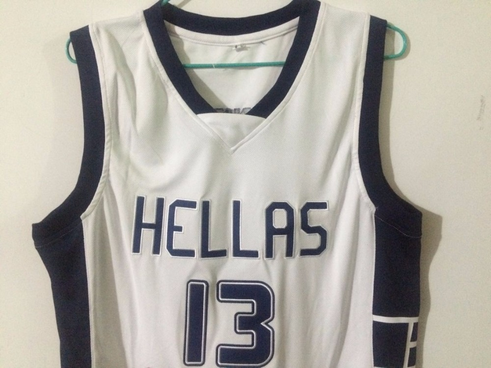 Top Hellas Greece Team  13 Giannis Antetokounmpo Jersey Throwback  Basketball Jersey Vintage Retro Basket Shirt For Me-in Basketball Jerseys  from Sports ... 0b8b32e31
