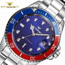 Fngeen известный бренд роль Роскошные автоматические часы мужские часы полые само ветер часы лучший бренд мужской часы Скелет наручные мужские
