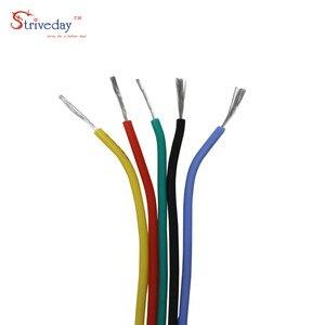 Image 2 - Cable de goma de silicona Flexible de 24AWG y 36 metros, Cable de línea de cobre estañado, Kit de cables mezcla de 6 colores DIY