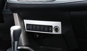 Image 4 - Sólo para la mano izquierda coche para Toyota RAV4 2016 2017 ABS accesorios Interior encendedor de cigarrillo caja decoración de Marco 1 piezas
