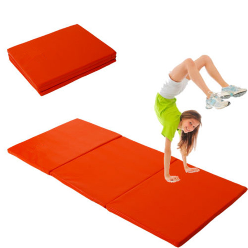 Folding Panel Gymnastics Mat Gym Exercise Yoga Mat Pad Yoga Blankets For Outdoor Training Body Building gymnastics mat thick four folding panel fitness exercise 2 4mx1 2mx3cm
