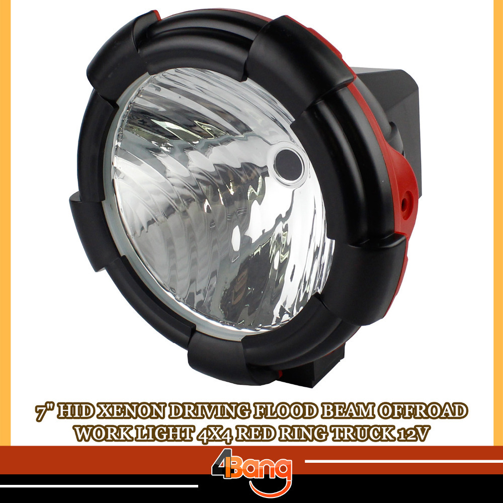 ФОТО 2 PCS 7 INCH 55W HID XENON  Work Light External Light DRIVING LIGHTS 12V OFF ROAD WORK FLOOD For SUV Truck ATV