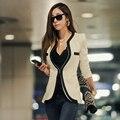 Top Trendy Jacket Blaser feminino Ternos de Trabalho para As Mulheres Estilo OL Blazers Jaquetas Feminino Terno do Revestimento do Revestimento