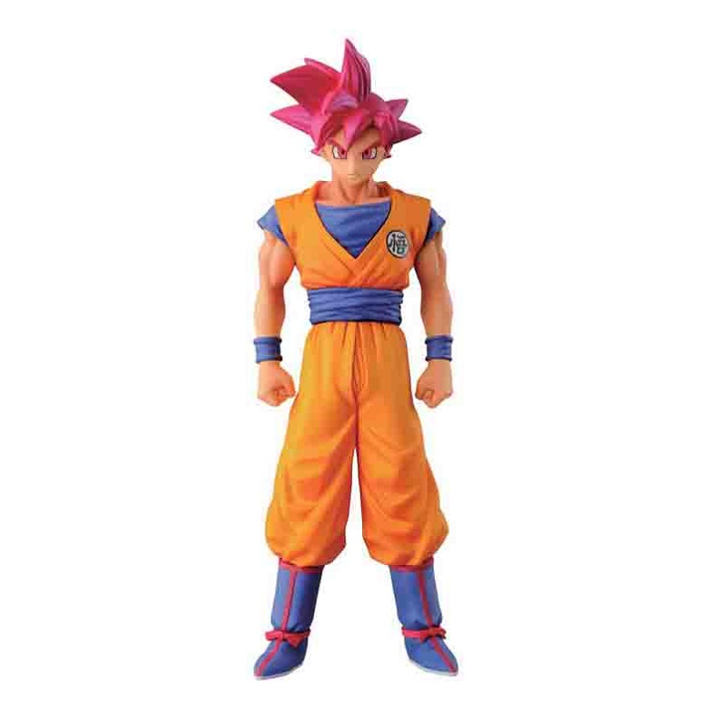 Anime Dragon Ball Z Super Saiyan Red Hair Son Goku Pvc Action Figure Toy Cartoon Son Goku Display Model Jouet Birthday Gift dragon ball super toy son goku action figure anime super vegeta pop model doll pvc collection toys for children christmas gifts
