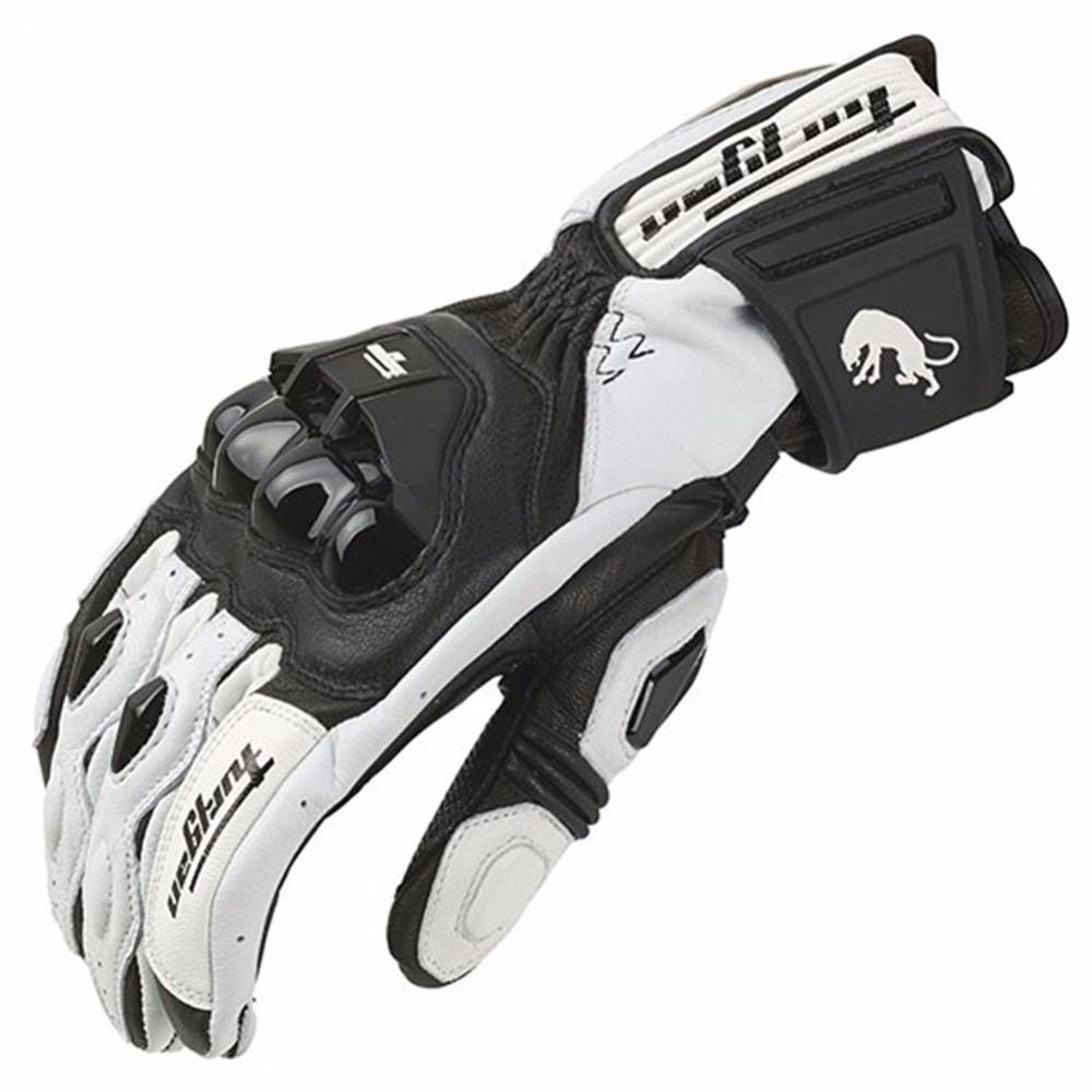 KAWOSEN Motorcycle Gloves Real Goat Leather Glove  Men Cycling Racing Moto Motorbike Motocicleta GuantesLuvas MPGG03