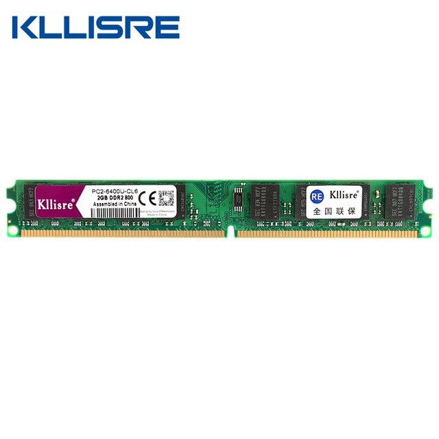 Kllisre DDR2 Ram 2GB 800 667MHz 1.8V 240Pin non-ECC Desktop Memory Dimm System High Compatible