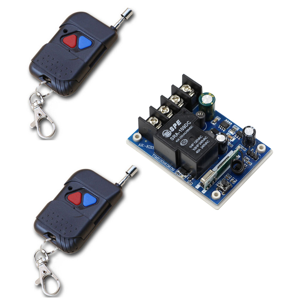 Smart Home DC 12V 24V 36V 48V Relay Receiver 40A RF Wireless Remote Control Switch Transmitter Motor Pump Power Remote Switch 40km h 4 wheel electric skateboard dual motor remote wireless bluetooth control scooter hoverboard longboard