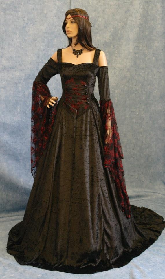 Renacimiento Medieval Gótico Vestido Etapa Pagano Wicca(China (Mainland))