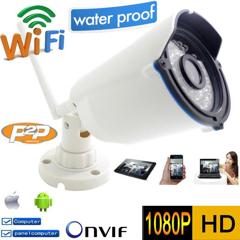 Câmera Ip wi-fi 1080 p Full-HD de Segurança CCTV Infravermelho Mini Onvif P2P Sem Fio À Prova D' Água À Prova de Intempéries Ao Ar Livre IR Night visão Cam