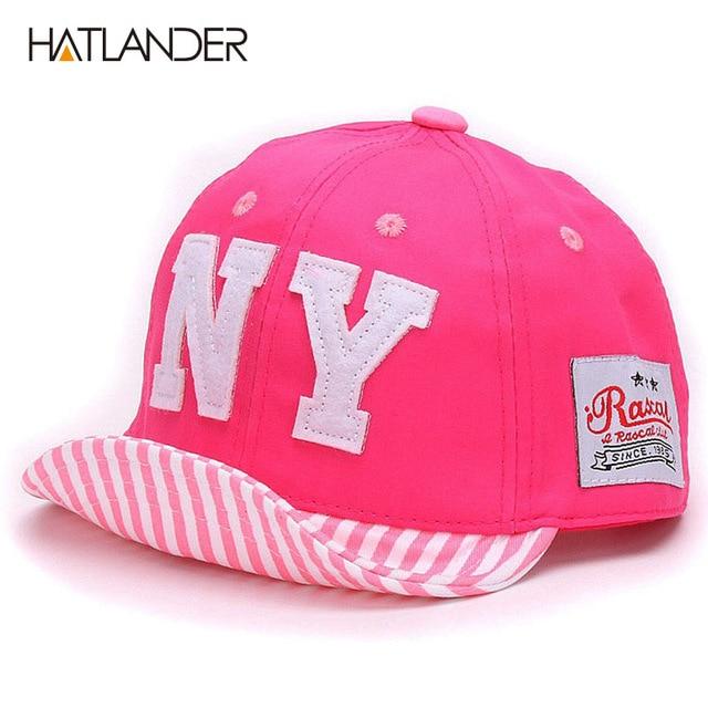 Hatlander Cotton Baby hat Boys Baseball Caps Kids Embroidery Letter NY caps Children Sun hat toddler Girl hat babies infant Hats