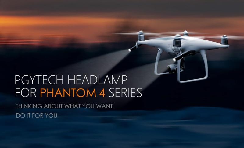 Phantom 4 Series LED Headlamp ( Adjustable Light Intensity / Rotatable Light Source ) for DJI Phantom4 4 Pro Accessories PGYTECH