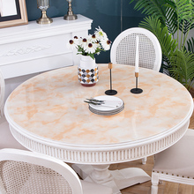 European style Imitation marble round tablecloths soft plastic PVC waterproof oilproof tablecloth party table decoration cover