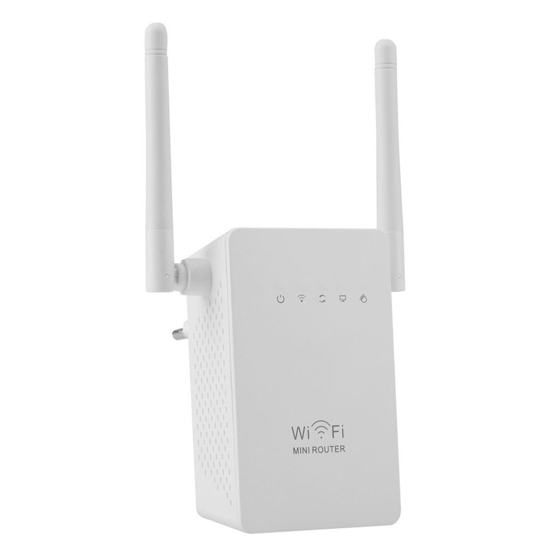 NOYOKERE nuevo 300 Mbps WiFi repetidor Red Range Extender Booster N300 único aumento antenas externas dobles EU US enchufe