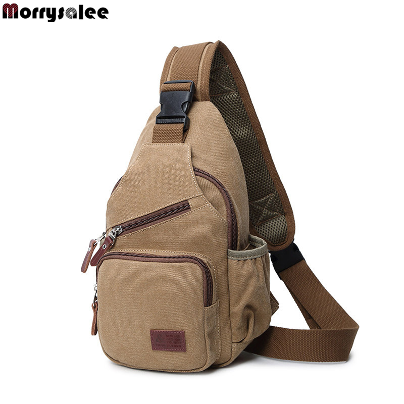 Man Fashion Messenger Casual Travel Chest Bag Canvas Crossbody Mens Shoulder Bag Multifunction Small Travel Bag,3