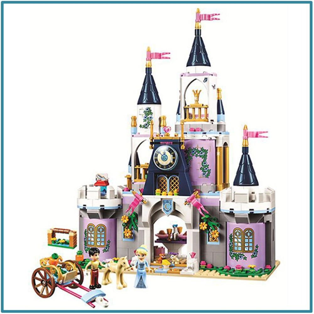 Blocks 815pcs 2 In 1 Princess Girls Castle Compatible Legoing Friends Tower Architecture Building Blocks Set Toys For Children Gifts