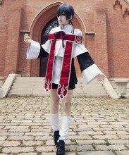 Costume de Cosplay noir pour homme et femme, uniforme de chorale d'église et bague d'halloween, S-XL