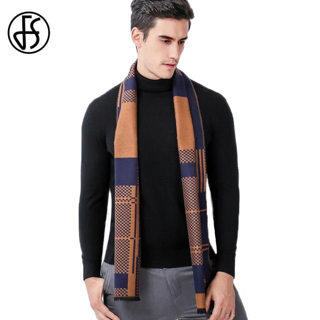 72cd95b48a54b FS Echarpe Foulard Homme hiver chaud Cachemire écharpe foulards pour hommes  Plaid couverture Kasjmier laine châle