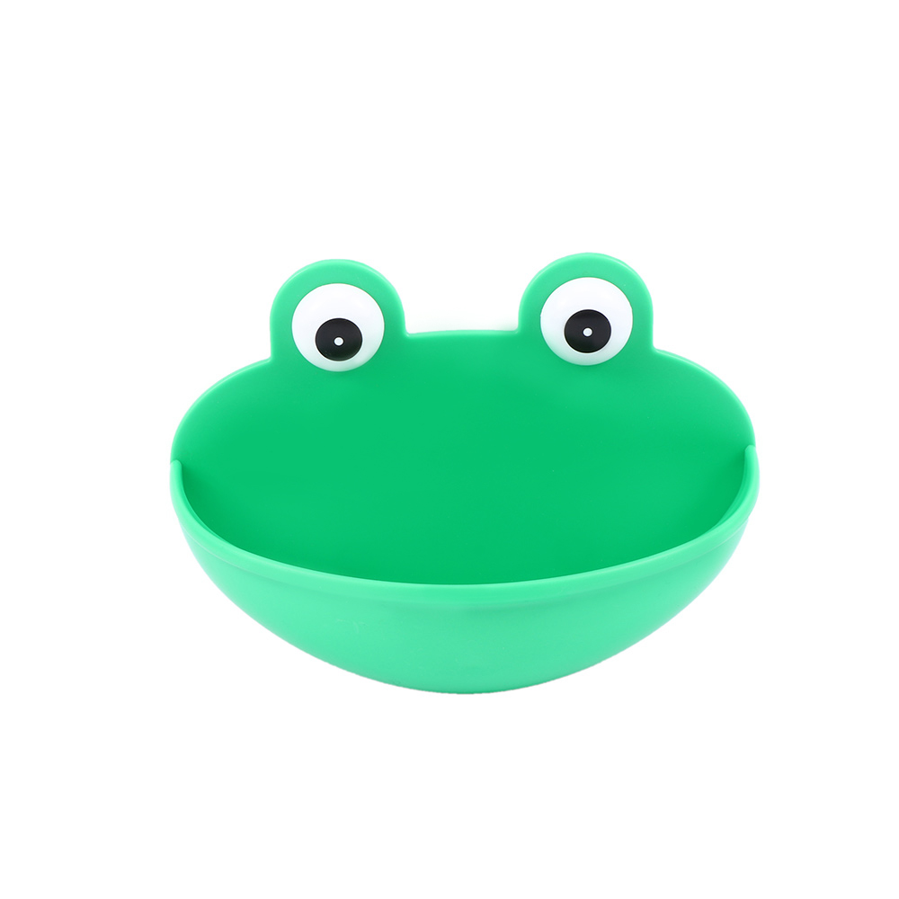 Soap Dish Holder Kitchen Bathroom Accessary Durable With Suction Cups Frogs Shaped ABS Soap Case Household Accessory