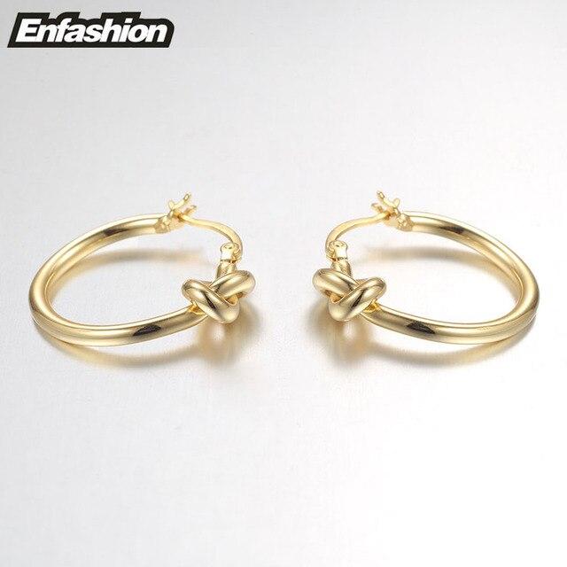 Купить оптовая продажа классические серьги кольца enfashion с узлом картинки цена