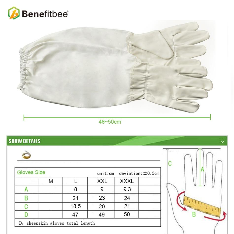 Image 4 - Becitbee брендовые пчеловодческие перчатки из искусственной кожи перчатки для пчеловодов защитные рукава пчеловодческий перчатки оборудование для выращивания-in Инструменты для пчеловодства from Дом и животные