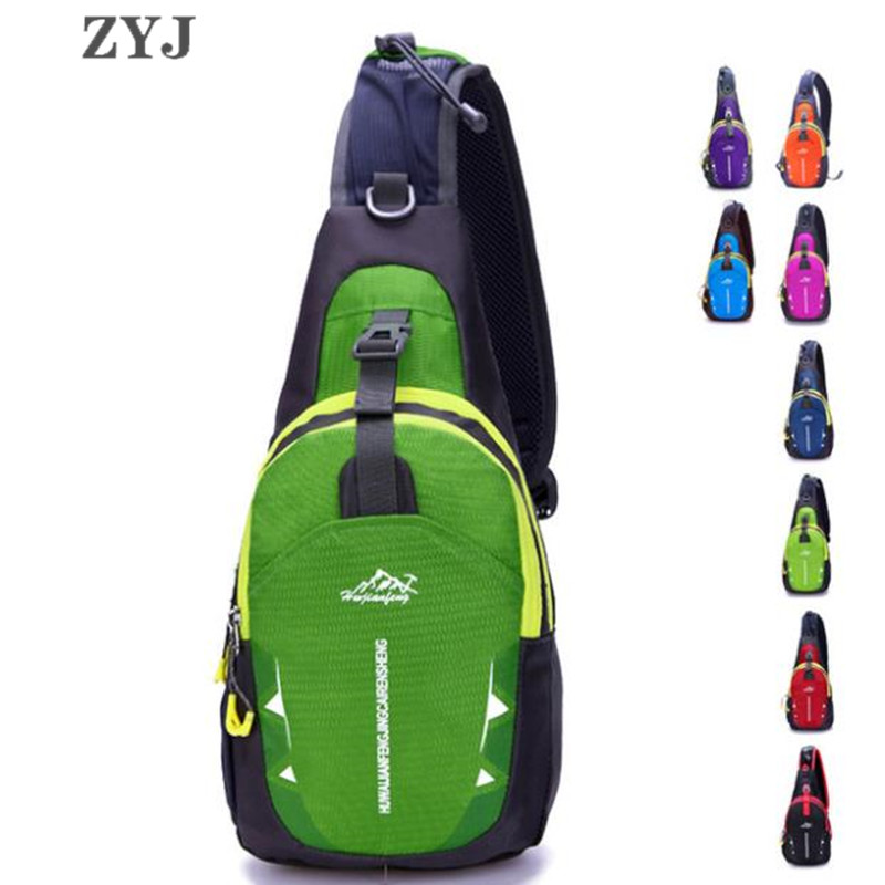 ZYJ Men Women Sport Chest Sling Bags Pack Casual Bicycle Messenger Crossbody Shoulder Money Bag Package