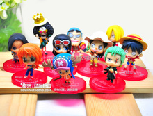 Free Shipping 4-7cm, One Piece After 2 Years PVC Action Figure, Luffy,Nami,Usopp Collection Model Toy (10pcs per set)
