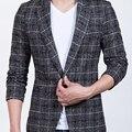 Homens Paletós Blazers Ternos de Vestido dos homens Moda Casual Slim Fit Único Botão Estilo de Tamanho Grande Dos Homens Blazers e jaquetas