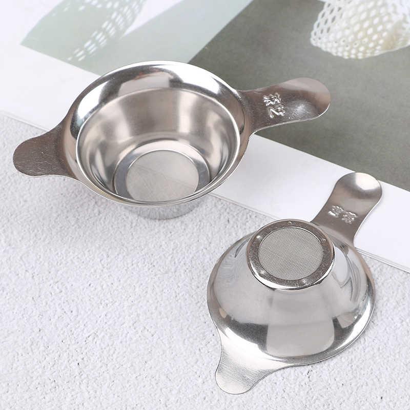 ステンレス鋼のティーストレーナー細かいメッシュ中国カンフー茶葉漏斗フィルター高品質