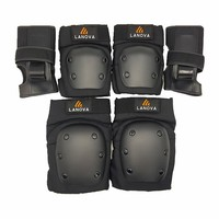 LANOVA 6pcs Set Protective Patins Set Knee Pads Elbow Pads Wrist Protector Protection For Scooter Cycling