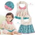 2017 Brand Cotton Baby Bibs Kawaii Skirt Modeling 38*20cm Lovely Baberos 0-3Y Baberos Bebes Floral Flowers Baby Bibs Waterproof