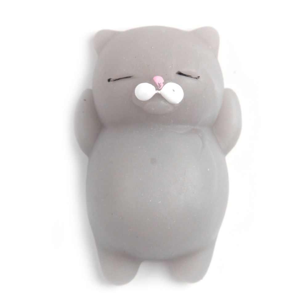 Susu Kotak Licin Double Smiley Face Es Krim Tangan Bantal Bread Bahasa Perancis Baguette Pisang Cloud Squeeze Kucing//Singa Laut lambat Rising