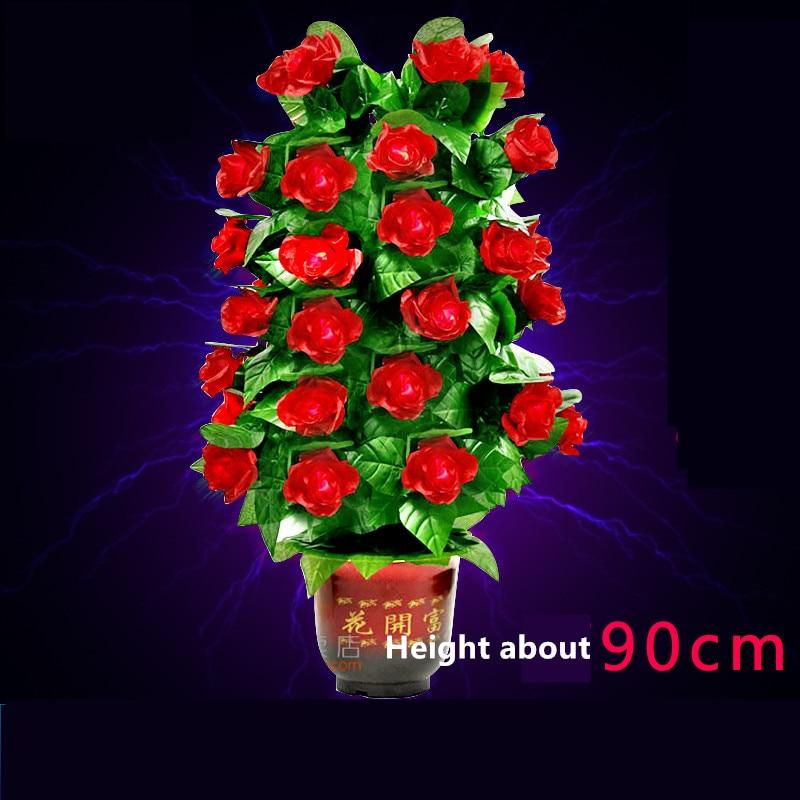 Fleur floraison Rose Bush télécommande 30 fleurs apparaissant rose tour de magie illusion mariage saint valentin cadeau