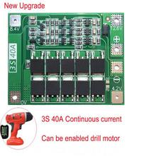 2S 20A/ 3S 20A/ 3S 40A/ 4S 40A 7.4V-16.8V 18650 Lithium Battery Protection Board BMS Board Standard Balance