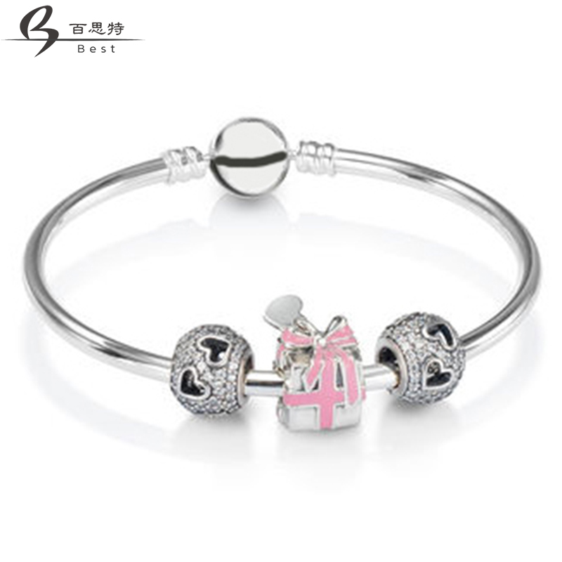 BEST 100% 925 New 1:1 Charm Attractive Gift Bracelet Set Appropriate Gift Valentine Gift Free ShippingBEST 100% 925 New 1:1 Charm Attractive Gift Bracelet Set Appropriate Gift Valentine Gift Free Shipping