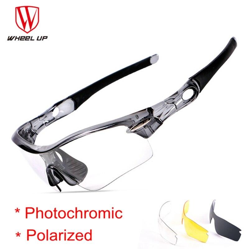 Spor ve Eğlence'ten Bisiklet Gözlükleri'de Fotokromik bisiklet güneş gözlüğü 3 lensler kum geçirmez polarize Ciclismo bisiklet gözlük kadın erkek sürme bisiklet gözlükleri title=