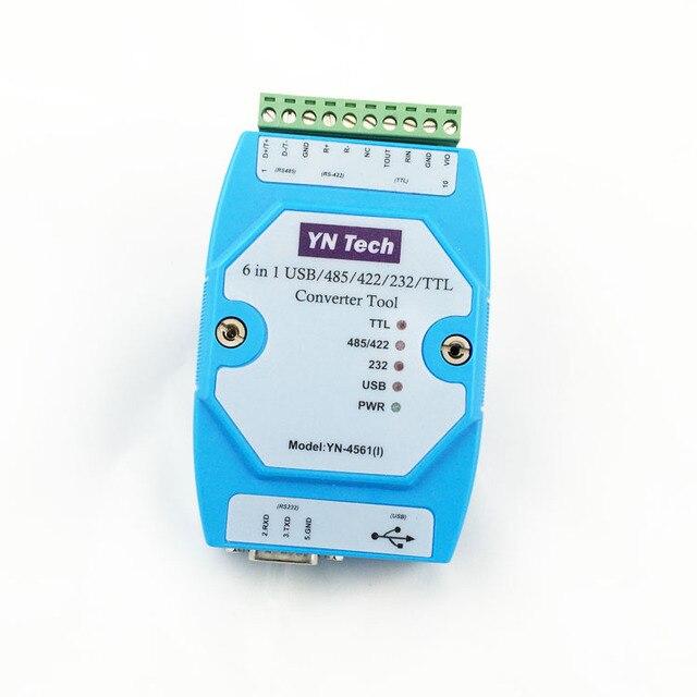 YN4561I Bị Cô Lập Sáu trong Một Cổng Nối Tiếp Mô đun CP2102 USB/485/422/232/TTL hoán đổi cho nhau Cổng Nối Tiếp