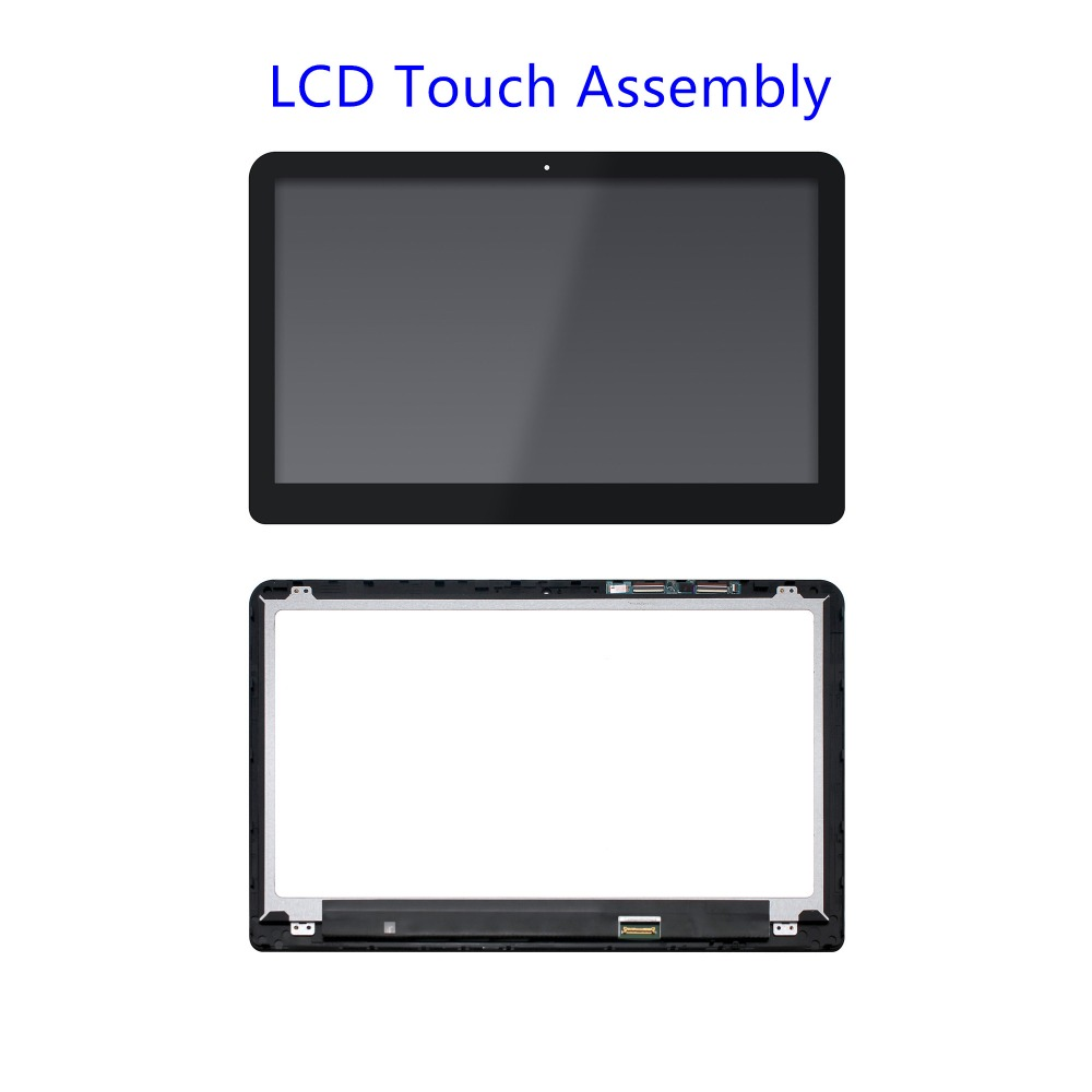 цена на For HP ENVY 15T-W000 15T-W100 15T-W200 15.6 FHD LED LCD Screen +Touch Digitizer Glass assembly With Bezel