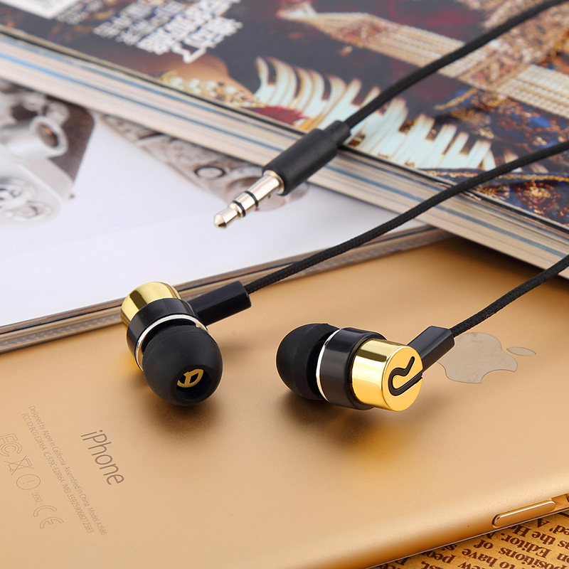 Cloth Earphone Noise Isolating Headset Universal 3.5MM Woven Fiber Rope Earphone for iPhone Xiaomi Mobile Phone MP3 3 5mm jack standard 1 1m noise isolating reflective fiber cloth line stereo in ear earphone earbuds for phone mp4 mp3
