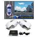WEIVISION 360 sistema de grabación DVR Coche con 4HD trasero Vista de pájaro frontal vista lateral de la cámara de copia de seguridad para Hyundai IX35 IX45 Nuevo SantaFe