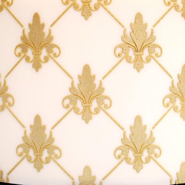 Fleur de Lis Diamond Stencil Tort Yan Stencil Fondant Kalıpları Tort Vasitələri