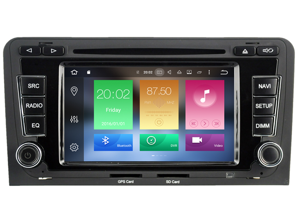 Android 6.0 CAR Audio DVD player FOR AUDI A3/S3/RS3 (2003-2012) gps Multimedia head device unit receiver BT WIFI