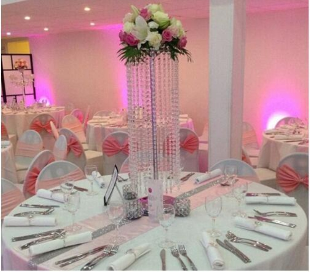Party Lead Diameter Tall Crystal Decoration 22 120CM  CM Event Acrylic Centerpiece 47inch 6PCS Road Wedding For