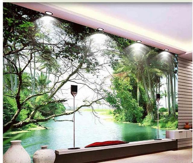 Decoration De La Maison Paysage Vert Simple Et Belle Dans L